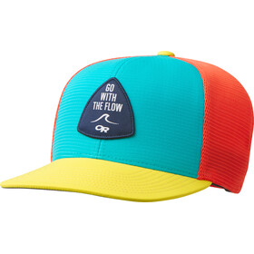 Outdoor Research Performance Trucker Cap Go with the Flow seaglass/lemonpeel/bahama